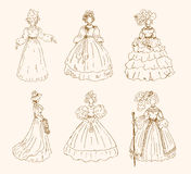 Women sketchy collection Stock Photo