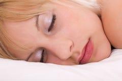 Women sleep close up Royalty Free Stock Photo