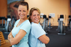 Women smiling in gym Stock Image
