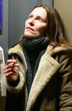 Women smoking Royalty Free Stock Photography
