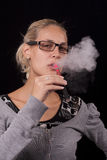 Women smoking electric cigarettes Royalty Free Stock Photo