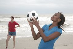 Women and soccer Royalty Free Stock Image