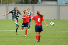 Women soccer game Stock Photography