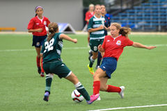 Women soccer game Royalty Free Stock Photography