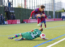 Women  soccer match - FC Barcelona vs Levante. Sonia Bermudez of FCB in action at Superliga - Women's Football Spanish League - match between FC Barcelona and Royalty Free Stock Images