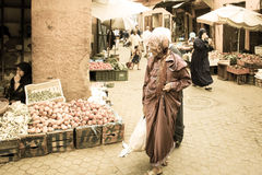 Women at the Souk. Marrakesh. Morocco Stock Images
