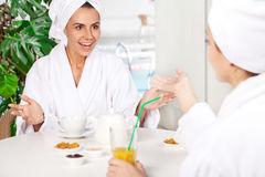 Women at spa. Royalty Free Stock Photography