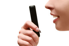 Women speaker on the phone Stock Photos