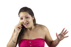 Women speaking on the phone Royalty Free Stock Photography