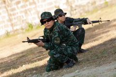 Women special assault force Royalty Free Stock Photography