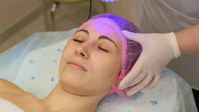 Women spend cleaning procedure persons with special equipment stock video footage