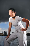 Women in Sports 9. Female asian athlete Royalty Free Stock Image