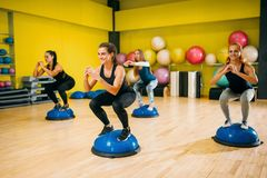 Women in sportswear exercising on fitness training Royalty Free Stock Photo