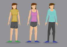 Women in Sporty Outfit Vector Cartoon Character Illustration Royalty Free Stock Photography