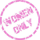 Women only stamp Royalty Free Stock Images