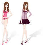 Women stand 01 Royalty Free Stock Photo