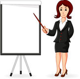 Women standing holding a training Royalty Free Stock Photography