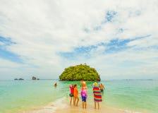 Women standing on a Thai Island beach Stock Photography