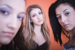 Women staring Royalty Free Stock Image