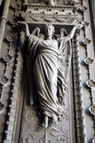 Women statue at the entrance of Basilica of Notre-Dame de Fourviere Royalty Free Stock Photo