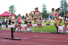 Women Steeplechase race Royalty Free Stock Image