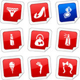 Women stickers. Royalty Free Stock Image