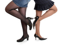 Women in stiletto shoes. The women in stiletto shoes Stock Photos