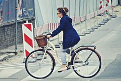 Women on the streets of Warsaw. Stock Photography