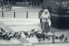 Women on the streets of Warsaw. Royalty Free Stock Images