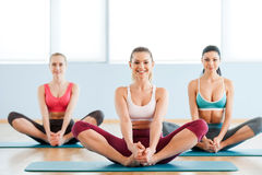 Women stretching. Royalty Free Stock Photography