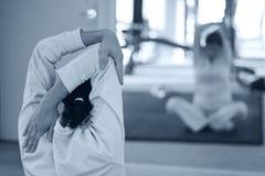 Women stretching up Stock Photos