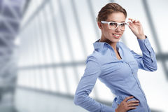Women or student on the business background royalty free stock photos