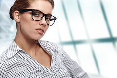 Women or student on the business background Stock Images