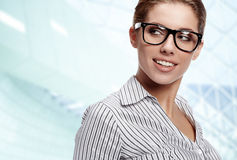 Women or student on the business background Royalty Free Stock Photo