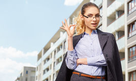 Women or student on the property background Stock Images
