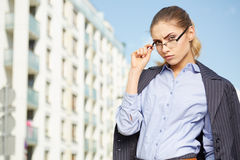 Women or student on the property background Stock Photography