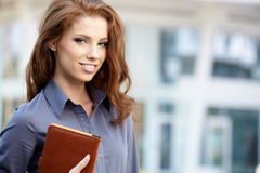 Women or student on the property business background Royalty Free Stock Photography