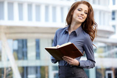 Women or student on the property business background Royalty Free Stock Photo