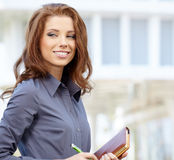 Women or student on the property business background Stock Images