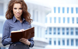 Women or student on the property business background Stock Photos