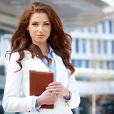 Women or student on the property business background Royalty Free Stock Photos