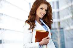 Women or student on the property business background Royalty Free Stock Images