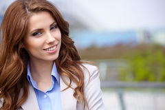 Women  student on the property business Royalty Free Stock Photo