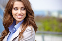 Women  student on the property business Stock Photography