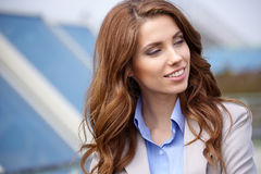 Women  student on the property business Royalty Free Stock Photography