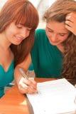 Women studying Royalty Free Stock Image