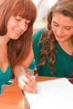 Women studying Stock Photo