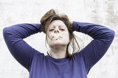 Women stuffy silence Stock Images