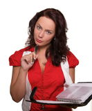 Women with stylus and diary Stock Photography
