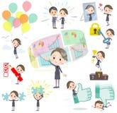 Women_success & positivo del personale di bellezza royalty illustrazione gratis